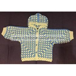 Detský háčkovaný svetrík hexagon