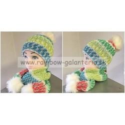 Set - detska čiapka a šál