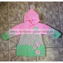 Dievčenský háčkovaný sveter