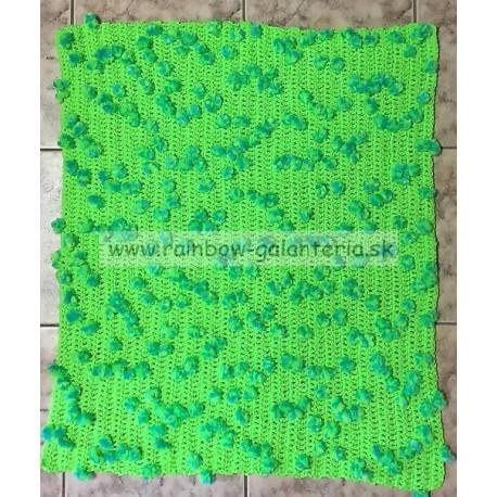 Hrubá zelená neónová deka - Bambulka