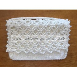 Listová kabelka biela