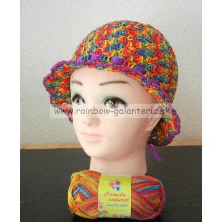 Letný dievčenský klobúčik
