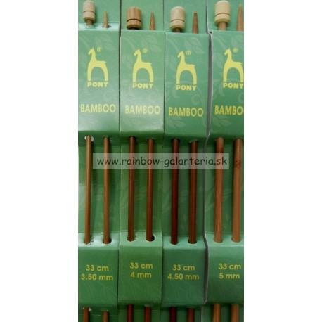 Bambusové ihlice 33 cm PONY- veľkosť 3,5