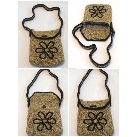 Háčkovaná taška Crossbody - Kvetinka